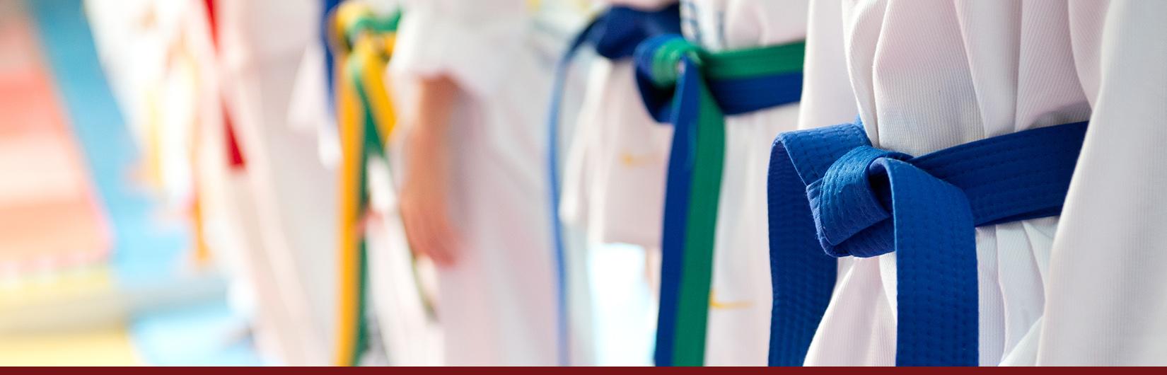 taekwondo students